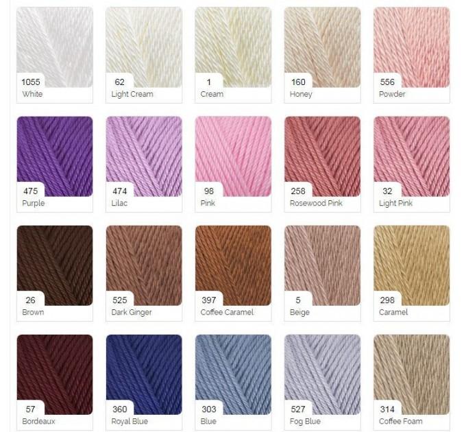 DIVA PLUS Alize Yarn Silk Effect Crochet Microfiber Acrylic Lace Hand Knitting Yarn shawl-scarf-poncho-sweater-wrap-Bag-pattern Vegan Yarn  Yarn  4