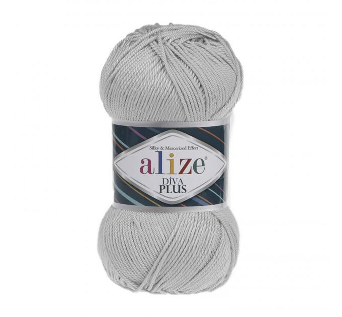 DIVA PLUS Alize Yarn Silk Effect Crochet Microfiber Acrylic Lace Hand Knitting Yarn shawl-scarf-poncho-sweater-wrap-Bag-pattern Vegan Yarn  Yarn  3