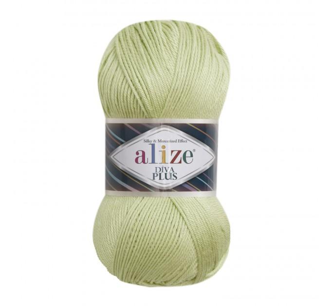 DIVA PLUS Alize Yarn Silk Effect Crochet Microfiber Acrylic Lace Hand Knitting Yarn shawl-scarf-poncho-sweater-wrap-Bag-pattern Vegan Yarn  Yarn  2