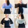 Knitted Shrug Bolero Summer Mint Shrug Lace Knitted Black Shrug Light Grey Hand Knit Mohair Cardigan Green Almond custom colours