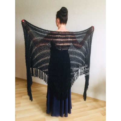 Black Lace shawl pin brooch Beige Knit Bridal Cape Bridesmaid shawl Wedding wrap Ivory gift for women White cover up Gray Capelet Royal Blue