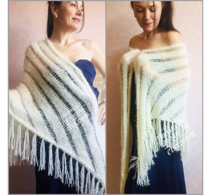 Black Lace shawl pin brooch Beige Knit Bridal Cape Bridesmaid shawl Wedding wrap Ivory gift for women White cover up Gray Capelet Royal Blue  Shawl / Wraps  7