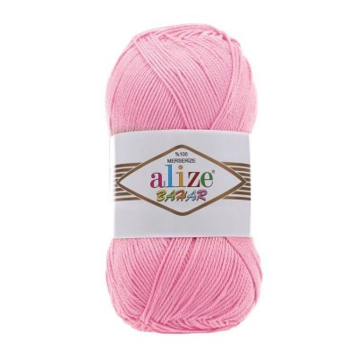 BAHAR Alize Merserized Cotton yarn Organic knitting yarn, Crochet vegan yarn, Soft baby yarn, Summer hypoallergenic cotton, Natural eco yarn