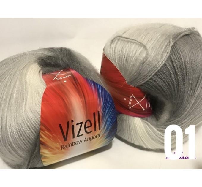 Angora RAINBOW Vizel Alpaca 5-8SET fingering yarn Lace Crochet Art yarn Shawl Scarf Knit Multicolor Poncho Sweater Cardigan Wrap Hat pattern  Yarn  10