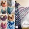 Crochet Shawl Plus Size Poncho Knit poncho gift brooch pin for women Triangle shawl Boho wool multicolor granny square clothing Men