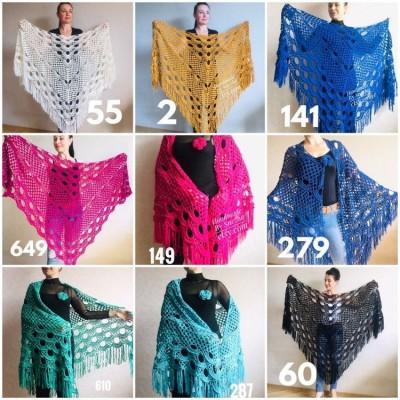 Bridesmaid shawl Navy Blue wedding shawl fringe, White crochet bridal cover up Hand knit crochet Bridal wrap Outlander lace shawl pin brooch