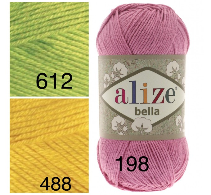 Bella Alize Yarn 100 Cotton yarn Crochet Soft baby yarn, Summer knitting yarn Organic hypoallergenic cotton Amigurumi natural eco vegan yarn  Yarn  5
