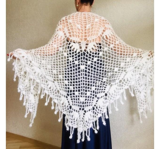 Ivory bridesmaid shawl Wedding shawl White faux fur Winter bridal bolero Vegan knit wrap Beige bridal cover up Navy Blue Fuzzy rustic shawl  Wedding  1