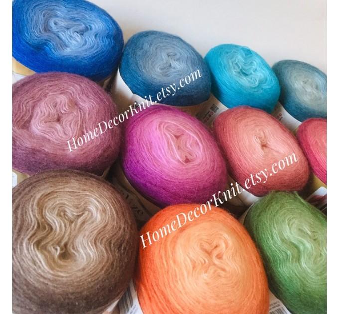 ANGORA GOLD OMBRE Batik Alize Yarn Gradient Multicolor Flowers Crochet Shawl Wraps soft Yarn mandala Knitting Wool Sweater Scarf, Hat Poncho  Yarn  1