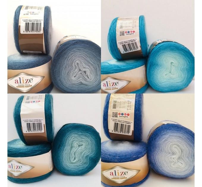 ANGORA GOLD OMBRE Batik Alize Yarn  150g - 825m Gradient Crochet Shawl Wraps soft Yarn mandala Knitting Wool Sweater Scarf, Hat Poncho  Yarn  6