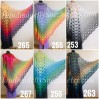 Crochet Shawl Wraps PONCHO for Women Granny Square Cotton Wedding Gift Lace Triangle Scarf Rainbow