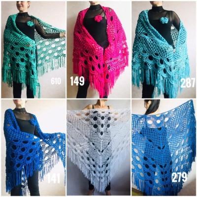 Bridesmaid shawl wedding shawl fringe, White crochet bridal cover up Hand knit crochet Bridal wrap Outlander lace shawl pin brooch Navy Blue