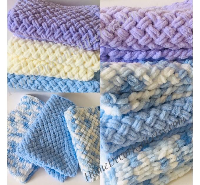ALIZE PUFFY COLOR Yarn, Gradient Baby Rainbow Blanket Yarn, Easy Finger Knitting Yarn No hook No neddle, Velvet Bulky Super Chunky Yarn  Yarn  2