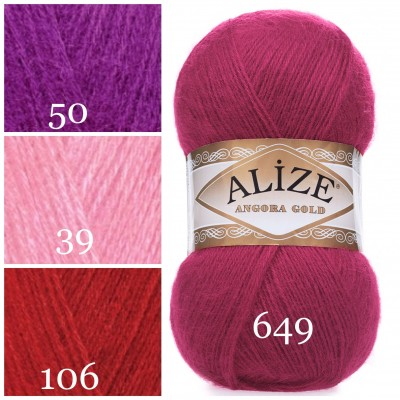 ALIZE ANGORA GOLD Yarn Mohair Wool Yarn Acrylic Crochet Shawl Wraps Soft Yarn Knitting Sweater Cardigan Hat Poncho Yarn Scarf