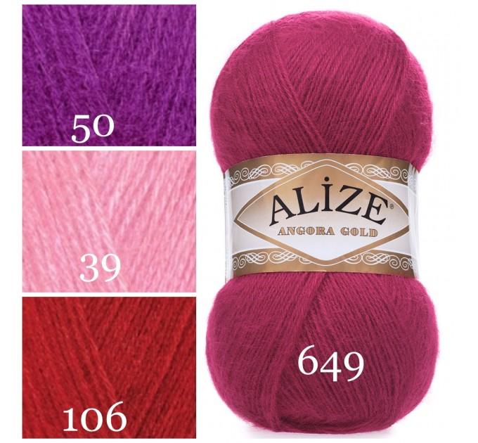 ALIZE ANGORA GOLD Yarn Mohair Wool Yarn Acrylic Crochet Shawl Wraps Soft Yarn Knitting Sweater Cardigan Hat Poncho Yarn Scarf  Yarn  3