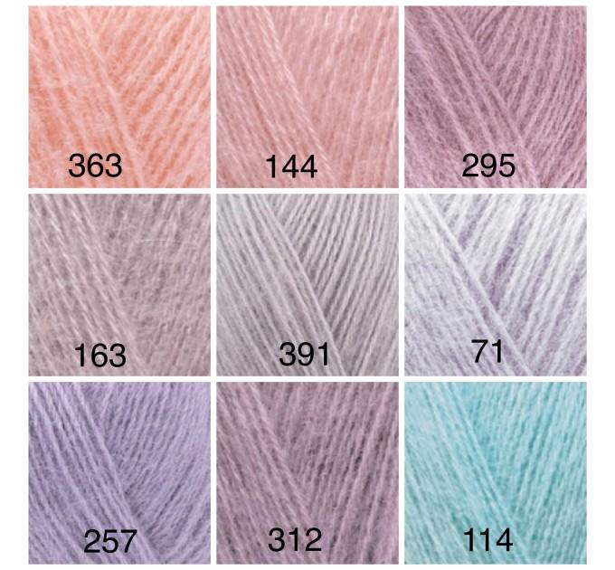 ALIZE ANGORA GOLD Yarn Mohair Wool Yarn Acrylic Crochet Shawl Wraps Soft Yarn Knitting Sweater Cardigan Hat Poncho Yarn Scarf  Yarn  5