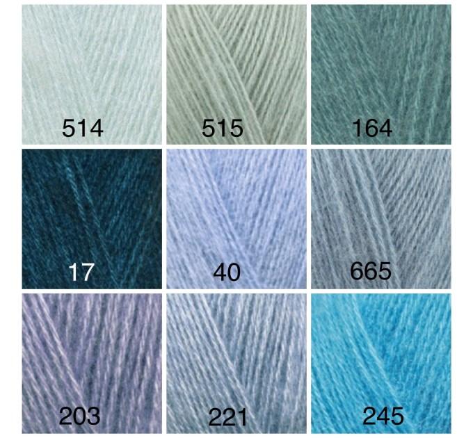 ALIZE ANGORA GOLD Yarn Mohair Wool Yarn Acrylic Crochet Shawl Wraps Soft Yarn Knitting Sweater Cardigan Hat Poncho Yarn Scarf  Yarn  6