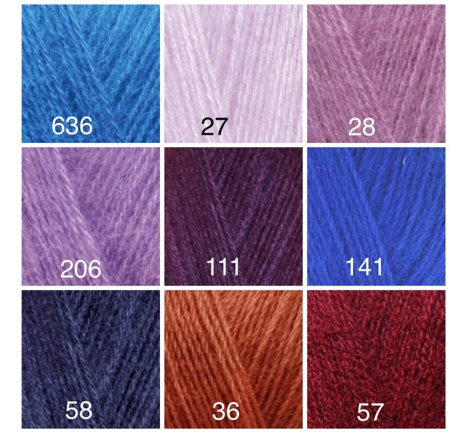 ALIZE ANGORA GOLD Yarn Mohair Wool Yarn Acrylic Crochet Shawl Wraps Soft Yarn Knitting Sweater Cardigan Hat Poncho Yarn Scarf  Yarn  7