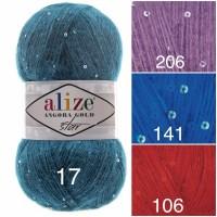 Alize ANGORA GOLD STAR Yarn Rainbow PayetteYarn Metallic Shiny Effect Wool Mohair Acrylic Crochet Shawl Poncho Knitting Sweater
