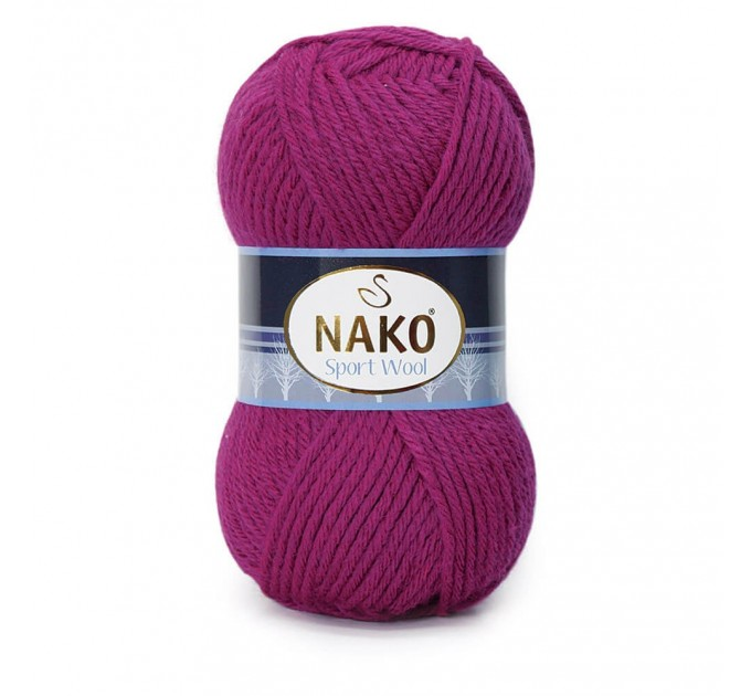 NAKO SPORT WOOL Yarn Wool Acrylic Yarn Multicolor Crochet Shawl Socks Cardigan Knitting Scarf Hat Sweater Poncho  Yarn  9