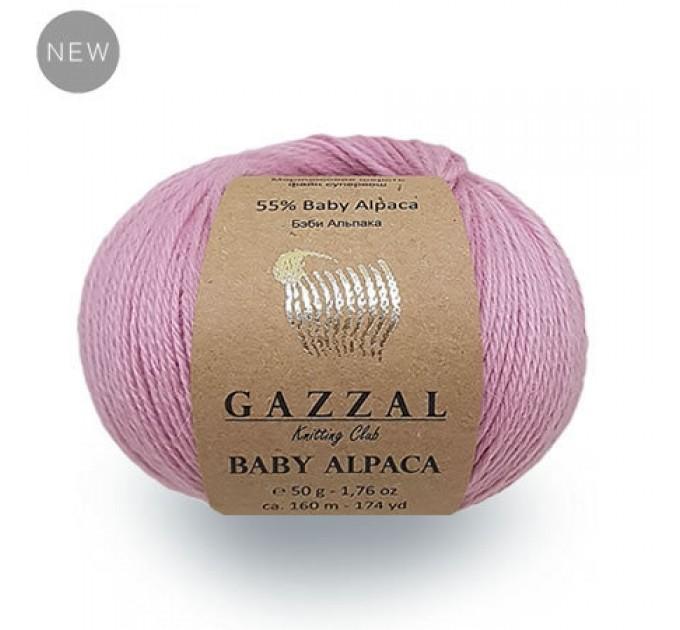 GAZZAL BABY ALPACA Yarn Super Wash Merino Wool Yarn Alpaca Winter Yarn For Baby Knitting Scarf Cardigan Sweater Hat Poncho Pullover Shawl  Yarn  1