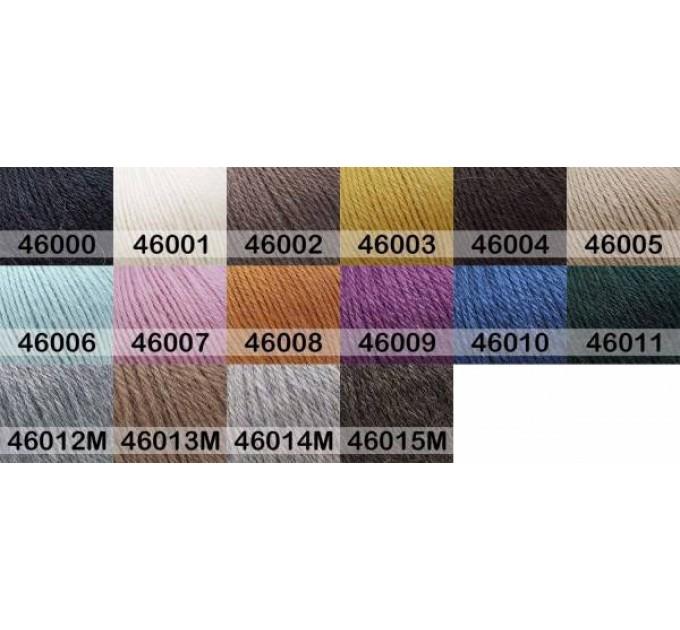 GAZZAL BABY ALPACA Yarn Super Wash Merino Wool Yarn Alpaca Winter Yarn For Baby Knitting Scarf Cardigan Sweater Hat Poncho Pullover Shawl  Yarn  2