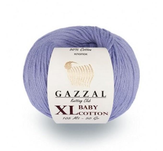 Gazzal BABY COTTON XL Yarn Organic Cotton Yarn Hypoallergenic Vegan Yarn Baby Yarn Booties Crochet Sweater Pullover Poncho  Yarn