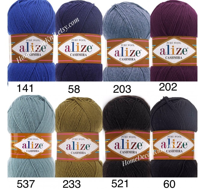 ALIZE CASHMIRA Yarn 100 Wool Knitting Yarn Wool Shawl Crochet Yarn Knitting Cardigan Sweater Poncho Scarf Hat  Yarn  4