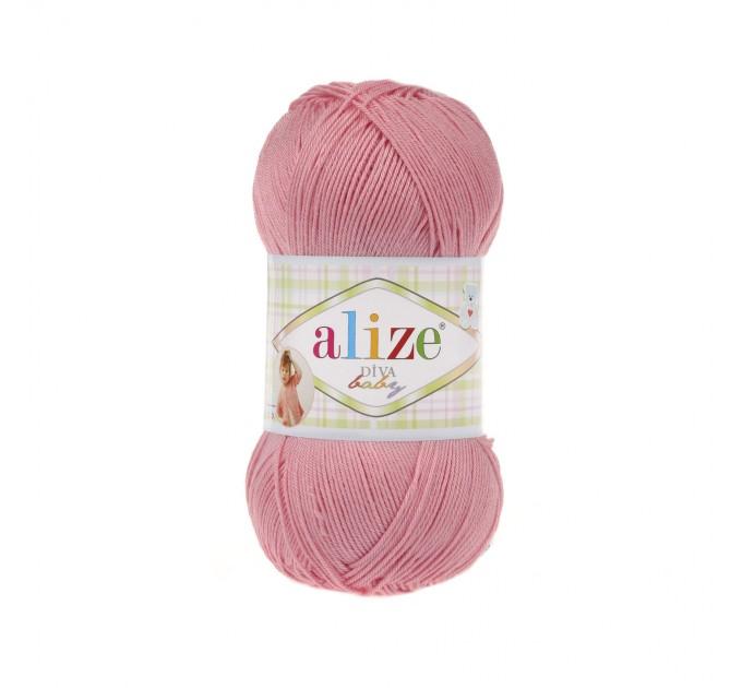 ALIZE DIVA BABY Yarn Microfiber Acrylic Yarn Silk Effect Crochet Multicolor Summer Rainbow Yarn Baby Clothes Yarn  Yarn