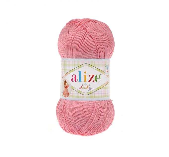 ALIZE DIVA BABY Yarn Microfiber Acrylic Yarn Silk Effect Crochet Multicolor Summer Rainbow Yarn Baby Clothes Yarn  Yarn  1