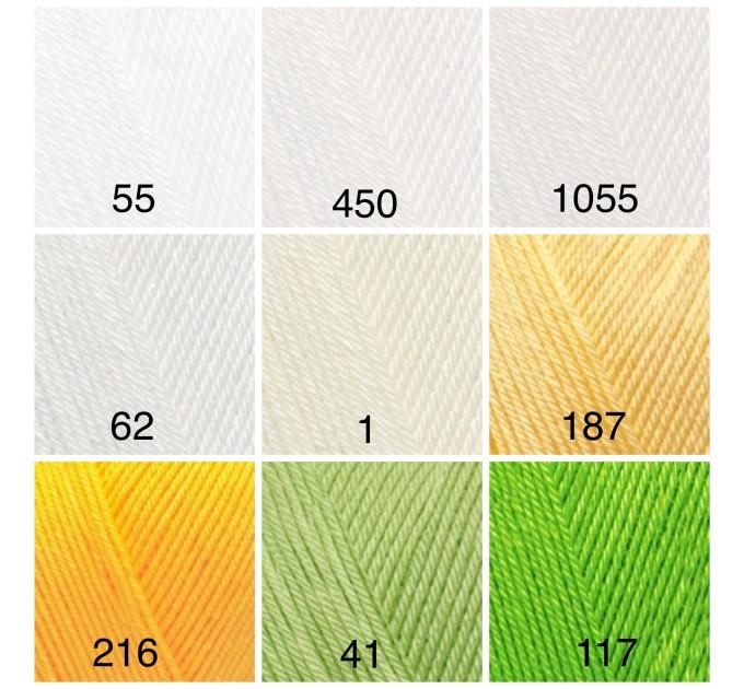 ALIZE DIVA BABY Yarn Microfiber Acrylic Yarn Silk Effect Crochet Multicolor Summer Rainbow Yarn Baby Clothes Yarn  Yarn  2