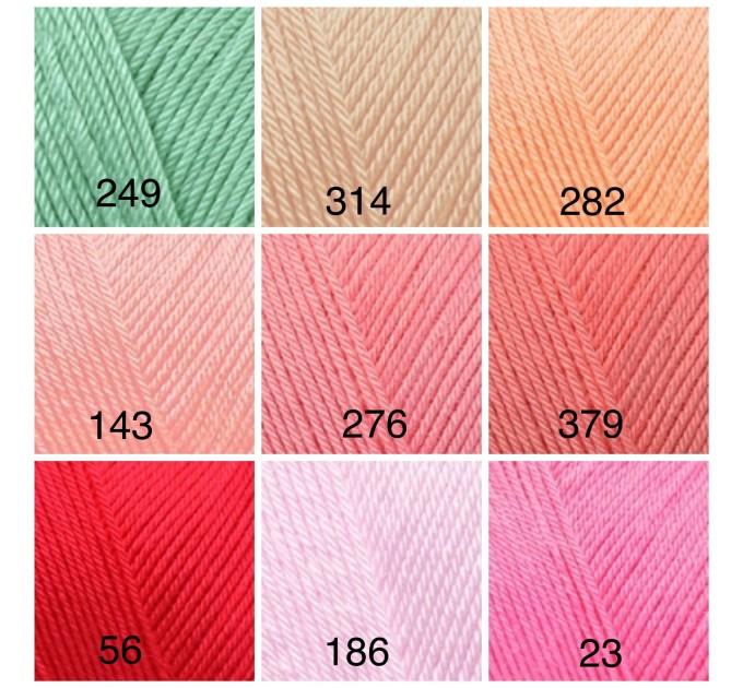 ALIZE DIVA BABY Yarn Microfiber Acrylic Yarn Silk Effect Crochet Multicolor Summer Rainbow Yarn Baby Clothes Yarn  Yarn  3