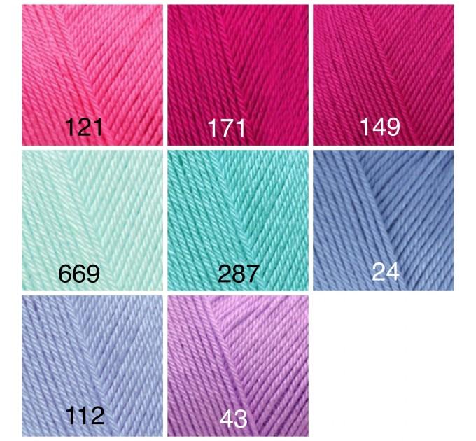 ALIZE DIVA BABY Yarn Microfiber Acrylic Yarn Silk Effect Crochet Multicolor Summer Rainbow Yarn Baby Clothes Yarn  Yarn  4