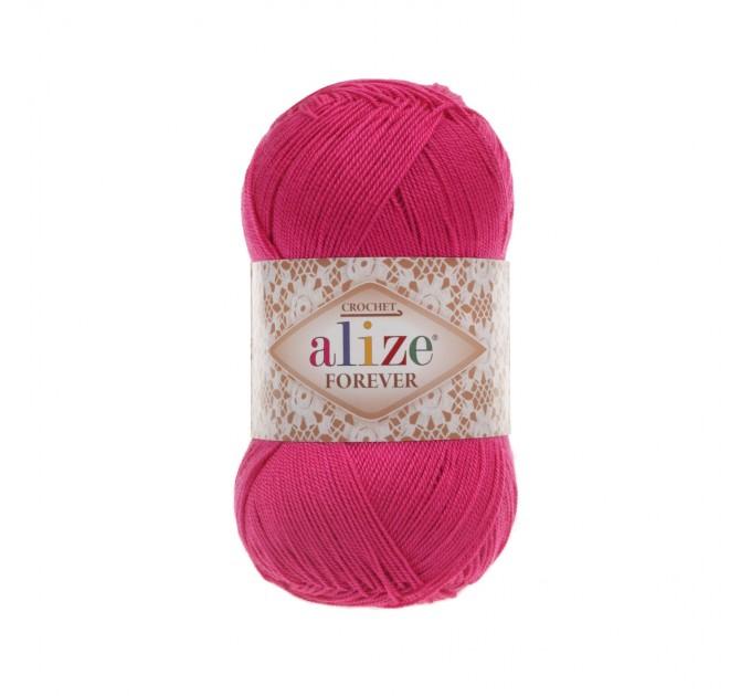 ALIZE FOREVER Yarn Microfiber Acrylic Yarn Hypoallergenic Yarn Vegan Yarn Lace Yarn Crochet Multicolor Spring Yarn Summer Yarn Rainbow Yarn  Yarn