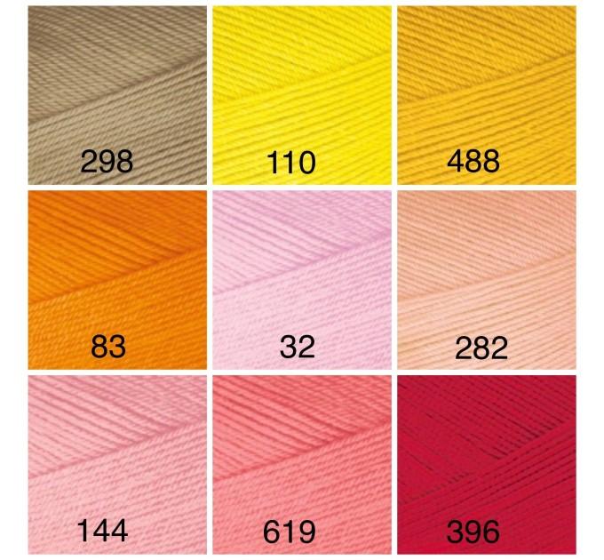 ALIZE FOREVER Yarn Microfiber Acrylic Yarn Hypoallergenic Yarn Vegan Yarn Lace Yarn Crochet Multicolor Spring Yarn Summer Yarn Rainbow Yarn  Yarn  1
