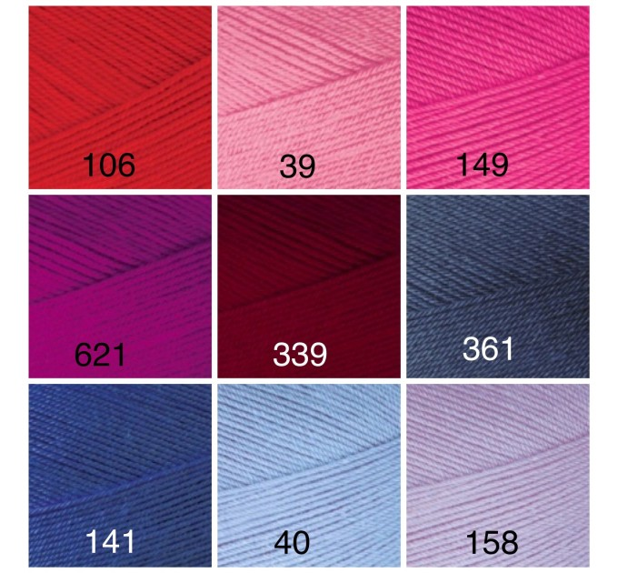ALIZE FOREVER Yarn Microfiber Acrylic Yarn Hypoallergenic Yarn Vegan Yarn Lace Yarn Crochet Multicolor Spring Yarn Summer Yarn Rainbow Yarn  Yarn  4