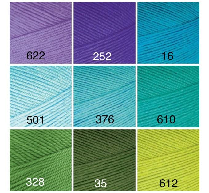 ALIZE FOREVER Yarn Microfiber Acrylic Yarn Hypoallergenic Yarn Vegan Yarn Lace Yarn Crochet Multicolor Spring Yarn Summer Yarn Rainbow Yarn  Yarn  5