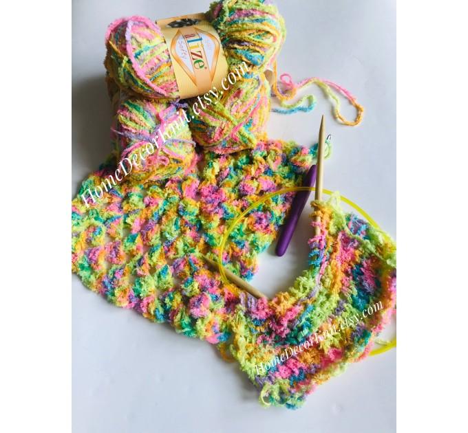 ALIZE SOFTY Yarn Gradient Yarn Multicolor Yarn For Kids Rainbow Yarn Plush Yarn Baby Yarn Soft Yarn Color Mix Knitting Yarn  Yarn  4