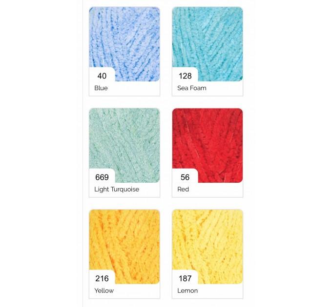 ALIZE SOFTY Yarn Gradient Yarn Multicolor Yarn For Kids Rainbow Yarn Plush Yarn Baby Yarn Soft Yarn Color Mix Knitting Yarn  Yarn  6
