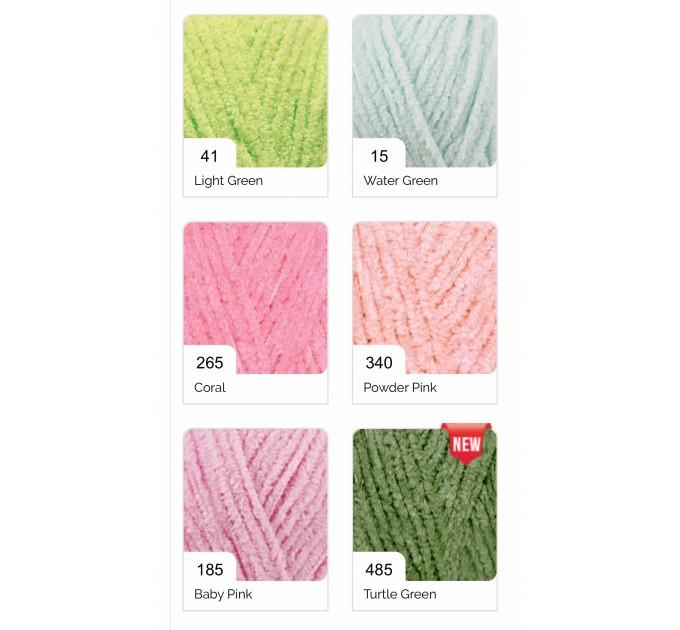ALIZE SOFTY Yarn Gradient Yarn Multicolor Yarn For Kids Rainbow Yarn Plush Yarn Baby Yarn Soft Yarn Color Mix Knitting Yarn  Yarn  7