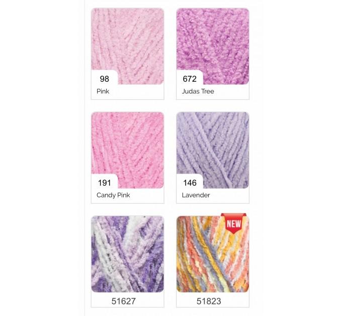 ALIZE SOFTY Yarn Gradient Yarn Multicolor Yarn For Kids Rainbow Yarn Plush Yarn Baby Yarn Soft Yarn Color Mix Knitting Yarn  Yarn  8