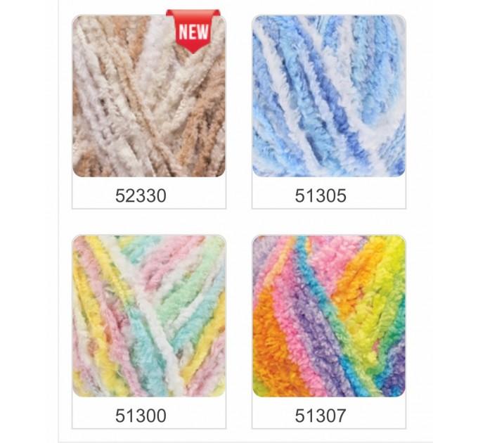 ALIZE SOFTY Yarn Gradient Yarn Multicolor Yarn For Kids Rainbow Yarn Plush Yarn Baby Yarn Soft Yarn Color Mix Knitting Yarn  Yarn  9
