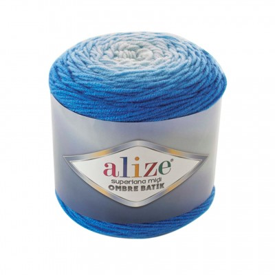 SUPERLANA MIDI OMBRE Batik Alize Yarn Wool Yarn Gradient Yarn Acrylic Wool Multicolor Yarn Rainbow Yarn Crochet Poncho Crochet Yarn