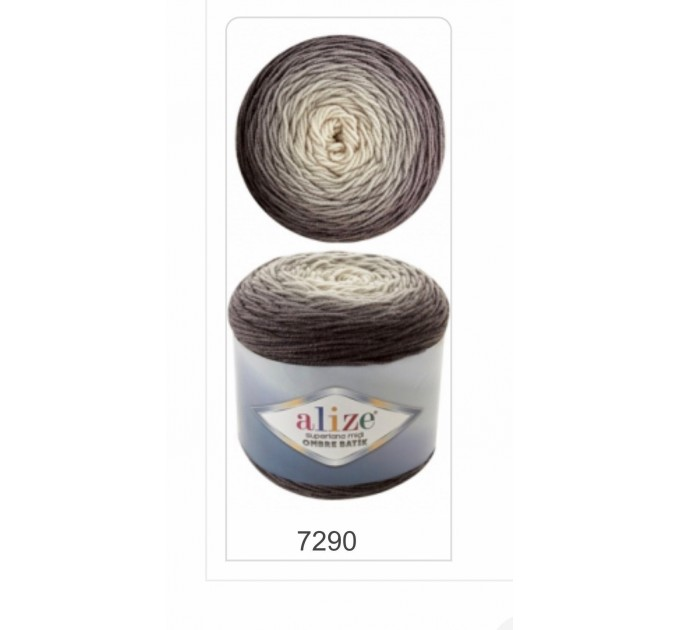 SUPERLANA MIDI OMBRE Batik Alize Yarn Wool Yarn Gradient Yarn Acrylic Wool Multicolor Yarn Rainbow Yarn Crochet Poncho Crochet Yarn  Yarn  4