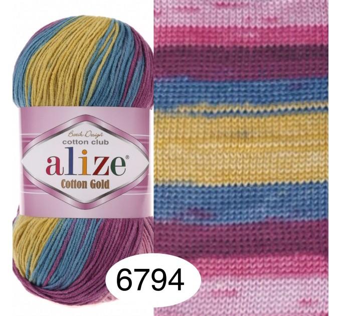 Alize COTTON GOLD BATIK Cotton Yarn Gradient Yarn Acrylic Yarn Multicolor Yarn Rainbow Yarn Crochet Yarn Soft Yarn Knitting Sweater Cardigan  Yarn