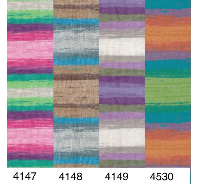 Alize COTTON GOLD BATIK Cotton Yarn Gradient Yarn Acrylic Yarn Multicolor Yarn Rainbow Yarn Crochet Yarn Soft Yarn Knitting Sweater Cardigan  Yarn  4