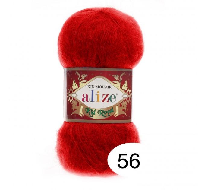 ALIZE KID ROYAL 50 Yarn Mohair Wool Yarn Knitting Sweater Cardigan Hat Poncho  Scarf Blend Wool Yarn Crochet Shawl Wraps Soft Yarn  Yarn  1