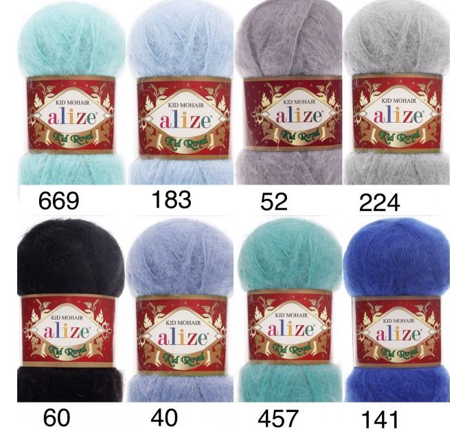 ALIZE KID ROYAL 50 Yarn Mohair Wool Yarn Knitting Sweater Cardigan Hat Poncho  Scarf Blend Wool Yarn Crochet Shawl Wraps Soft Yarn  Yarn  3