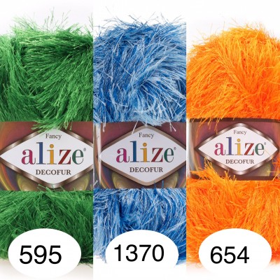 ALIZE DECOFUR Yarn Eyelash Yarn Shaggy Yarn Faux Fur Perfect For Clothes Decoration Carnival Costumes Sparkle Crochet Shawl Scarf Fur Yarn