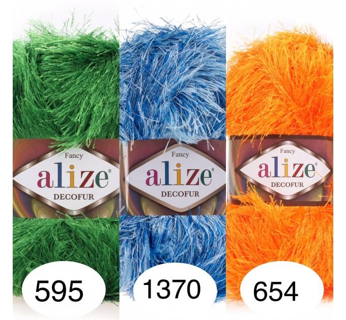 ALIZE DECOFUR Yarn Eyelash Yarn Shaggy Yarn Faux Fur Perfect For Clothes Decoration Carnival Costumes Sparkle Crochet Shawl Scarf Fur Yarn  Yarn  1